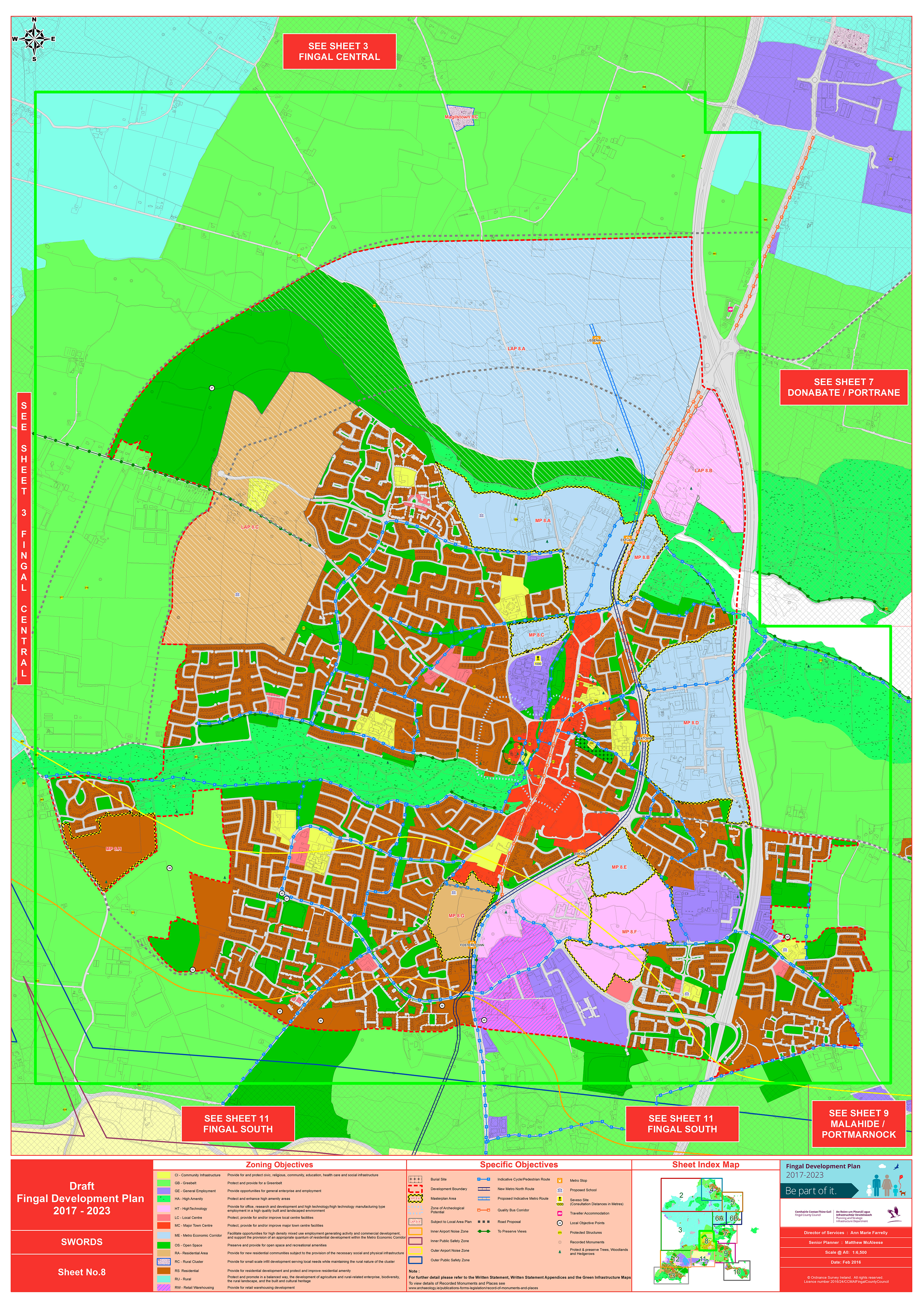 Map 8: Swords | Fingal County Council Online Consultation Portal Ge County Flood Maps on