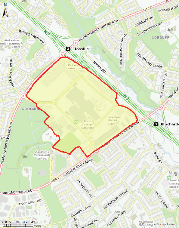Map - Blanchardstown Core Retail Area