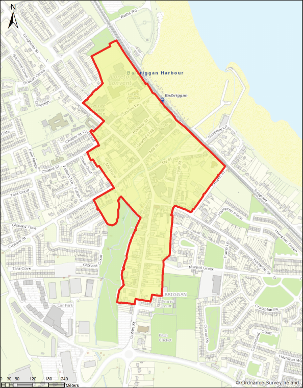Map - Balbriggan Core Retail Area