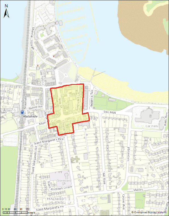 Map -  Malahide Core Retail Area