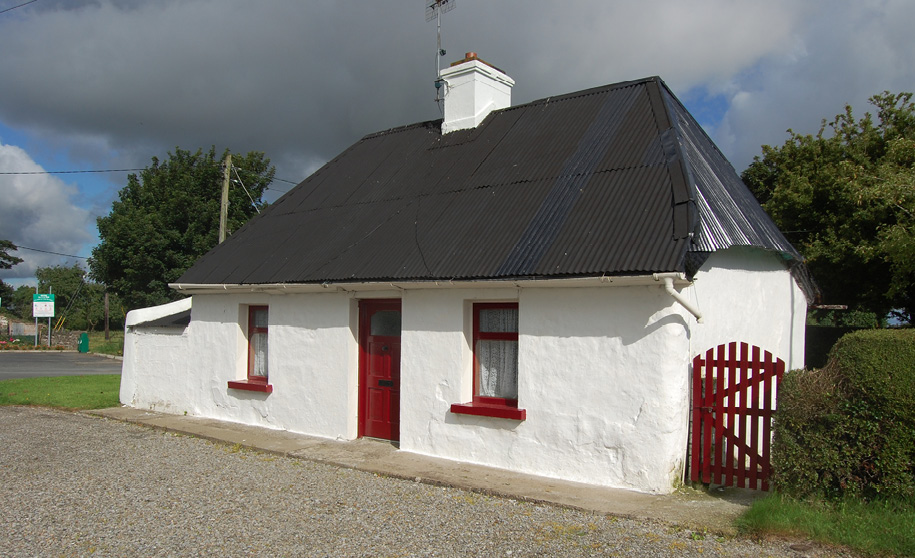 Cottage with tin roof